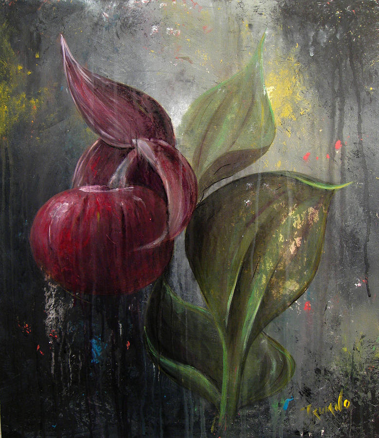 Flower Painting - Orchid Bulb by Matt Truiano
