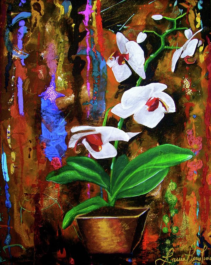 Flowers Painting - Orchid Hi by Laura Pierre-Louis