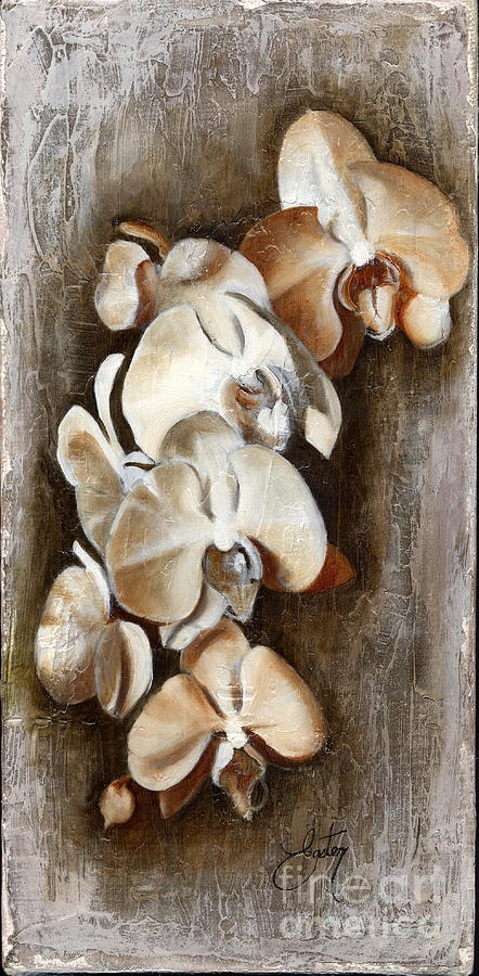 Flowers Painting - Orchid Ladder by Daniela Easter