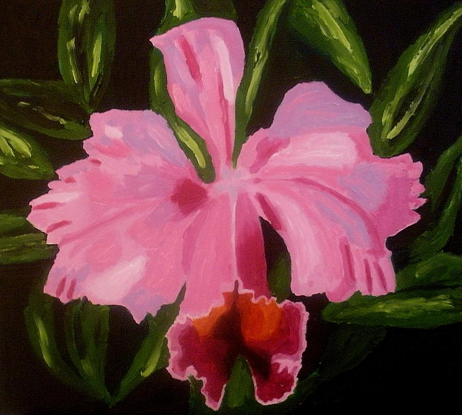 Flower Painting - Orchid by Mats Eriksson