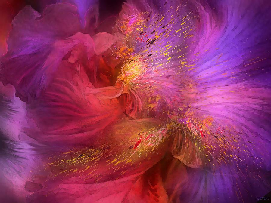 Carol Cavalaris Mixed Media - Orchid Moods by Carol Cavalaris