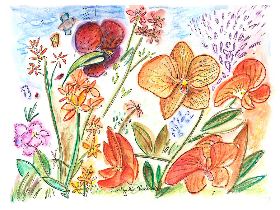 Flowers Painting - Orchid No. 9 by Julie Richman