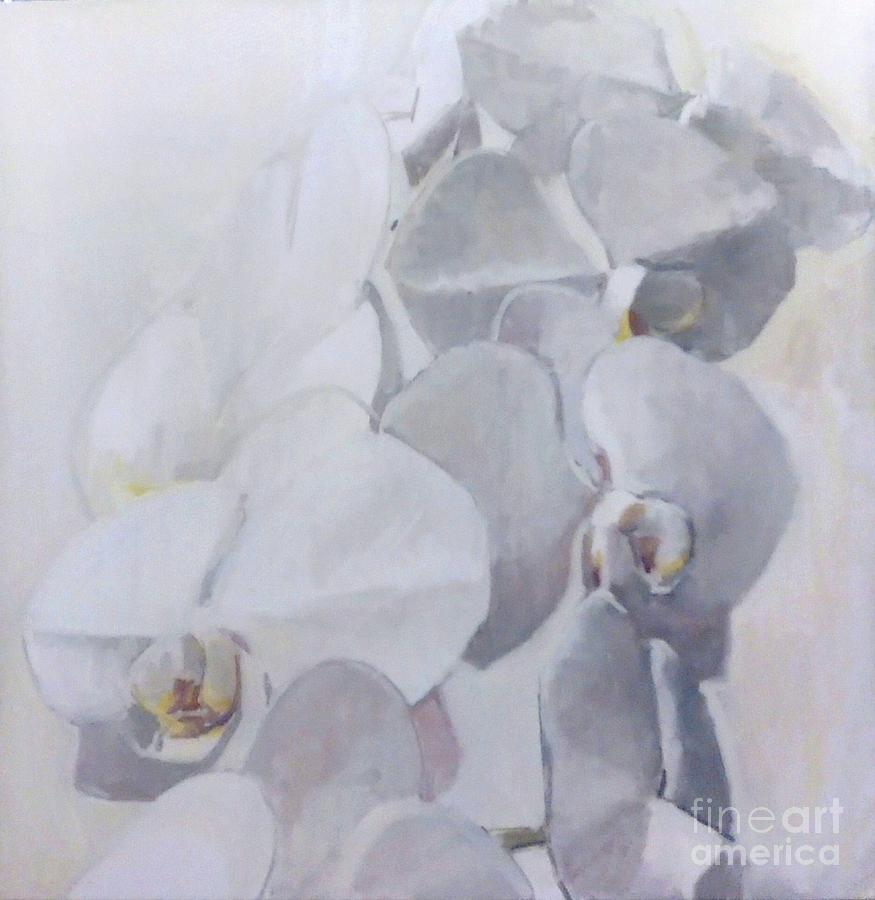 Innocence Painting - Orchidee Blanche Des Miracles by Lynn Grayson
