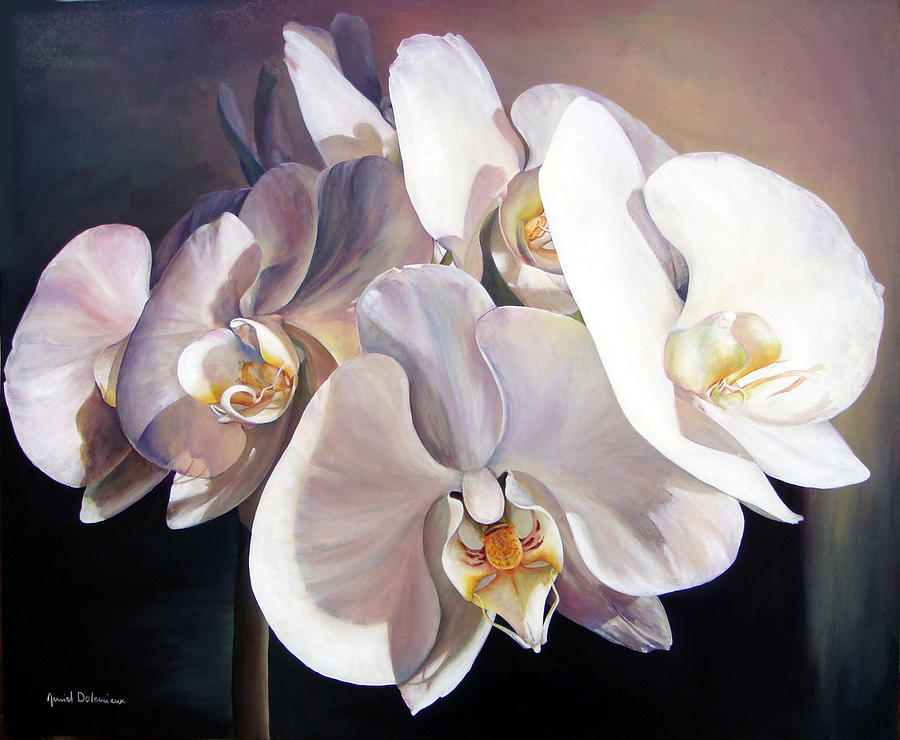 Flower Painting - Orchidee by Muriel Dolemieux