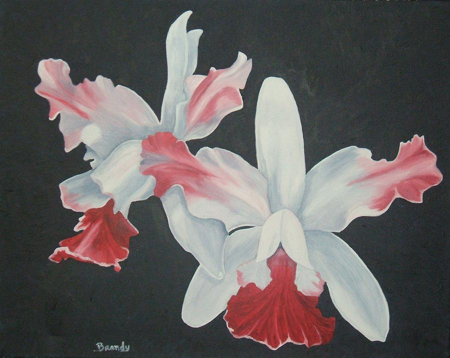 Flowers Painting - Orchids in Flight by Brandy House