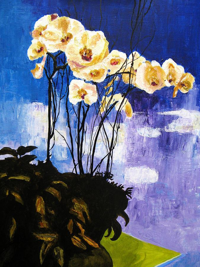 Floral Painting - Orchids by Kitty Schwartz
