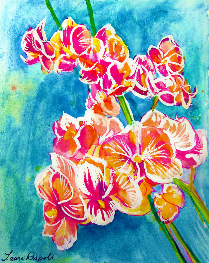 Orchids Painting - Orchids by Laura Rispoli