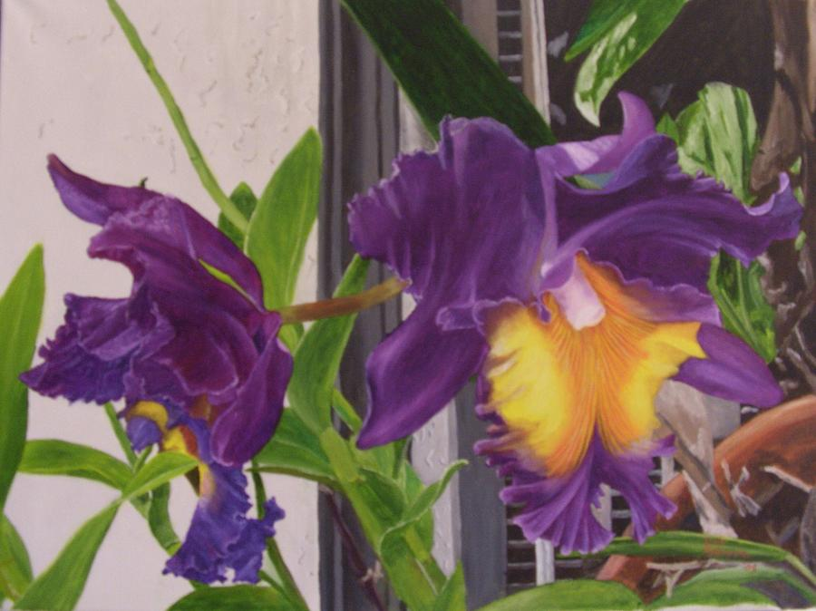 Flowers Painting - Orchids by Robert Silvera