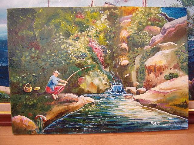Landscape Painting - Ordunun Derecikleri by Fahrettin  Oktay