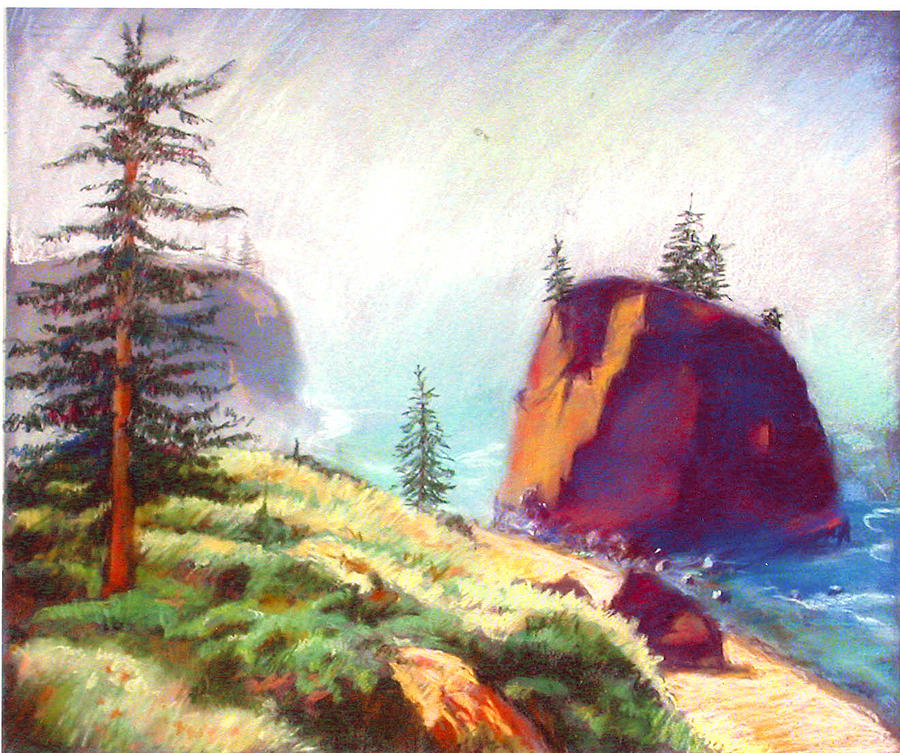 Landscape Painting - Oregon Coast 3 by Florence Unkeless