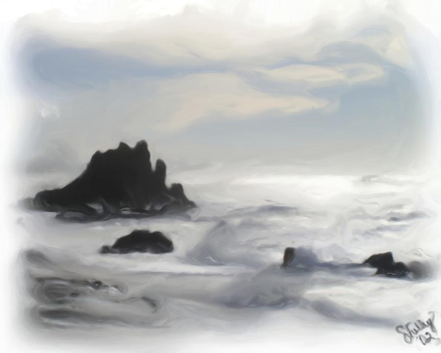 Beaches Painting - Oregon Coast by Shelley Bain