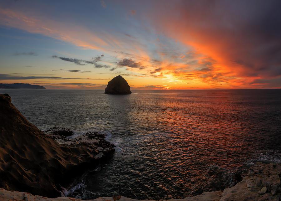 Beach Photograph - Oregon Coast Sunset by Sungwook Choi