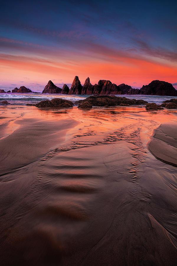 Oregon Photograph - Oregon Coastal   Sunrise by Andrew Soundarajan