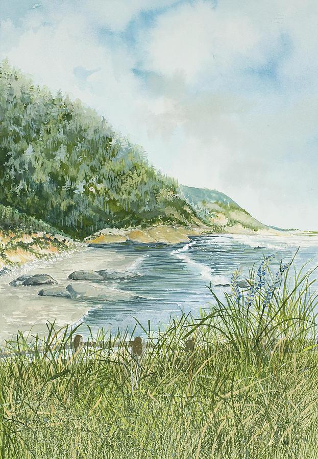 Oregon Coastline Painting