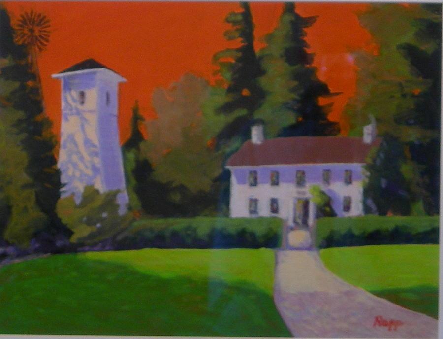 Pump House Painting - Oregon Farmhouse  by Jan Rapp