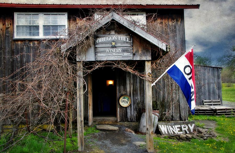 Open Photograph - Oregon Hill Winery by Stephanie Calhoun