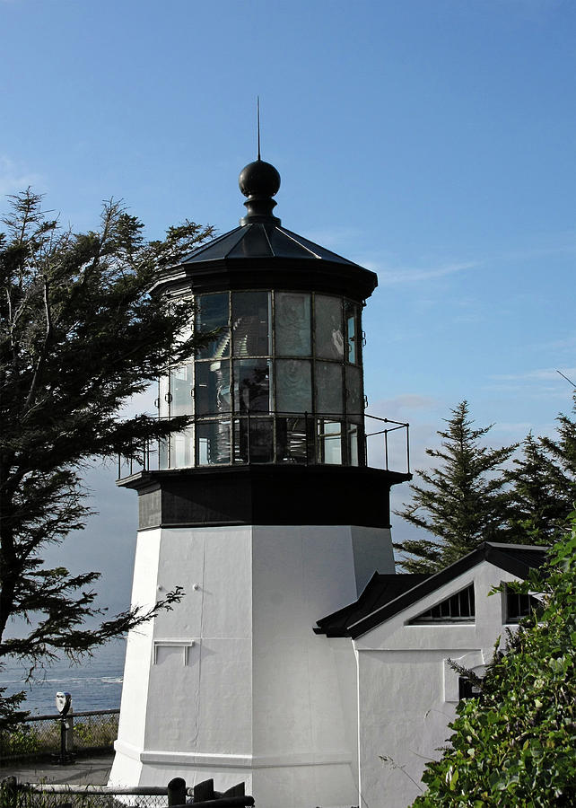 Cape Meares Lighthouse Photograph - Oregon Lighthouses - Cape Meares Lighthouse by Christine Till