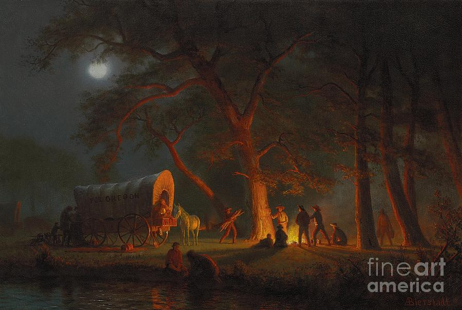 Oregon Trail Painting by Albert Bierstadt