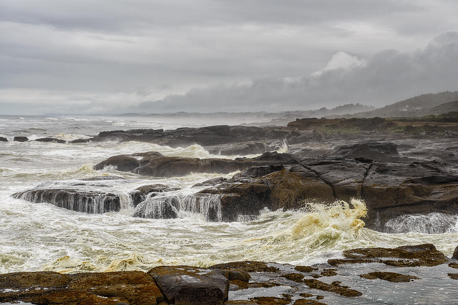 Oregon Photograph - Oregons Rugged Coast by Dick Wood