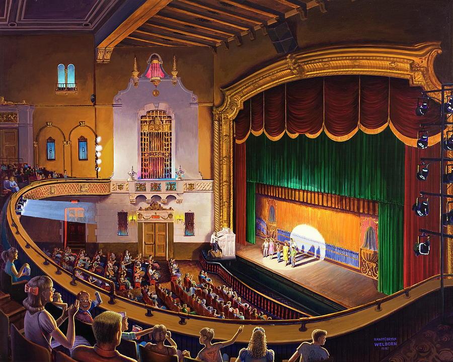 Theater Painting - Organ Club - Jefferson by Randy Welborn