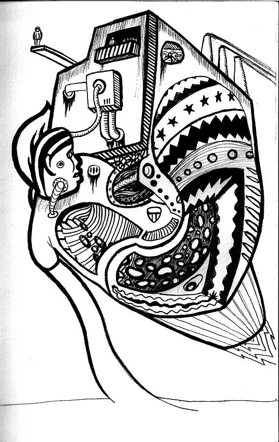 Drawing Drawing - Organ Harvestor Xl by John  Stidham