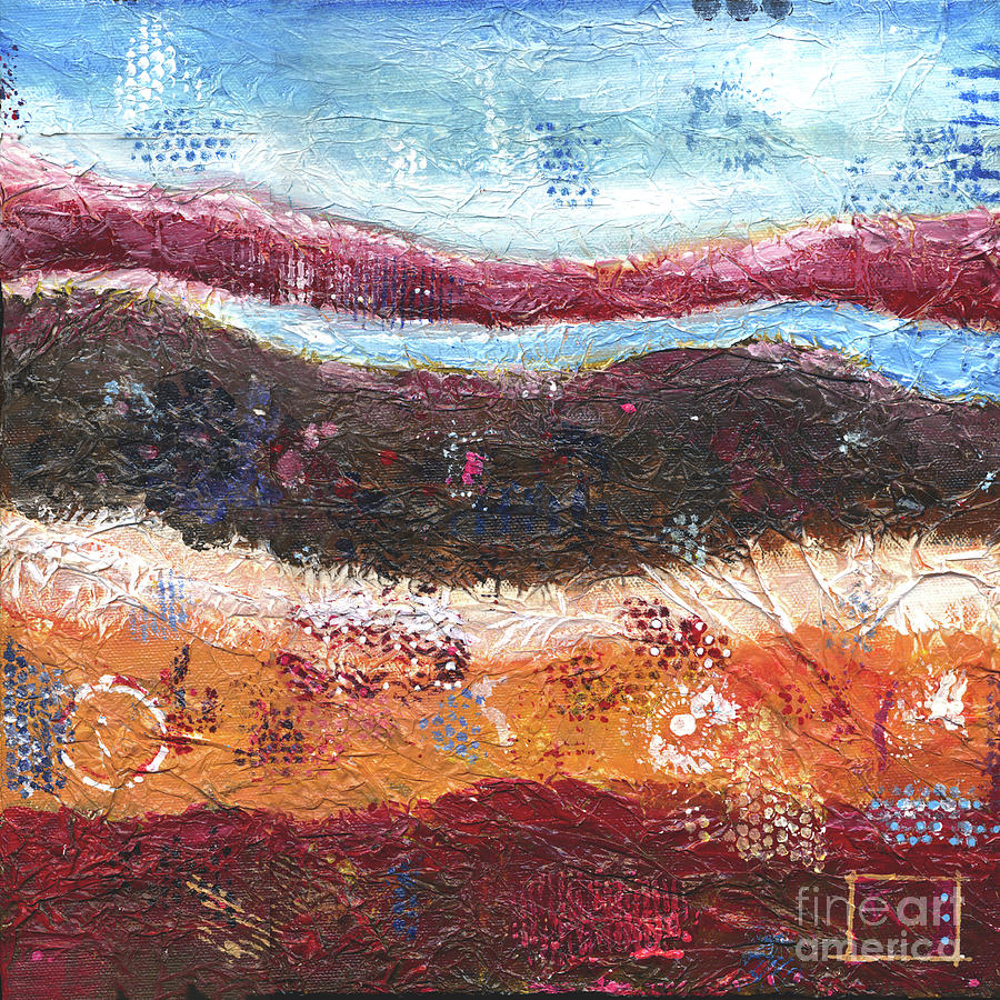 Textured Painting - Organic Abstract by Kim Niles
