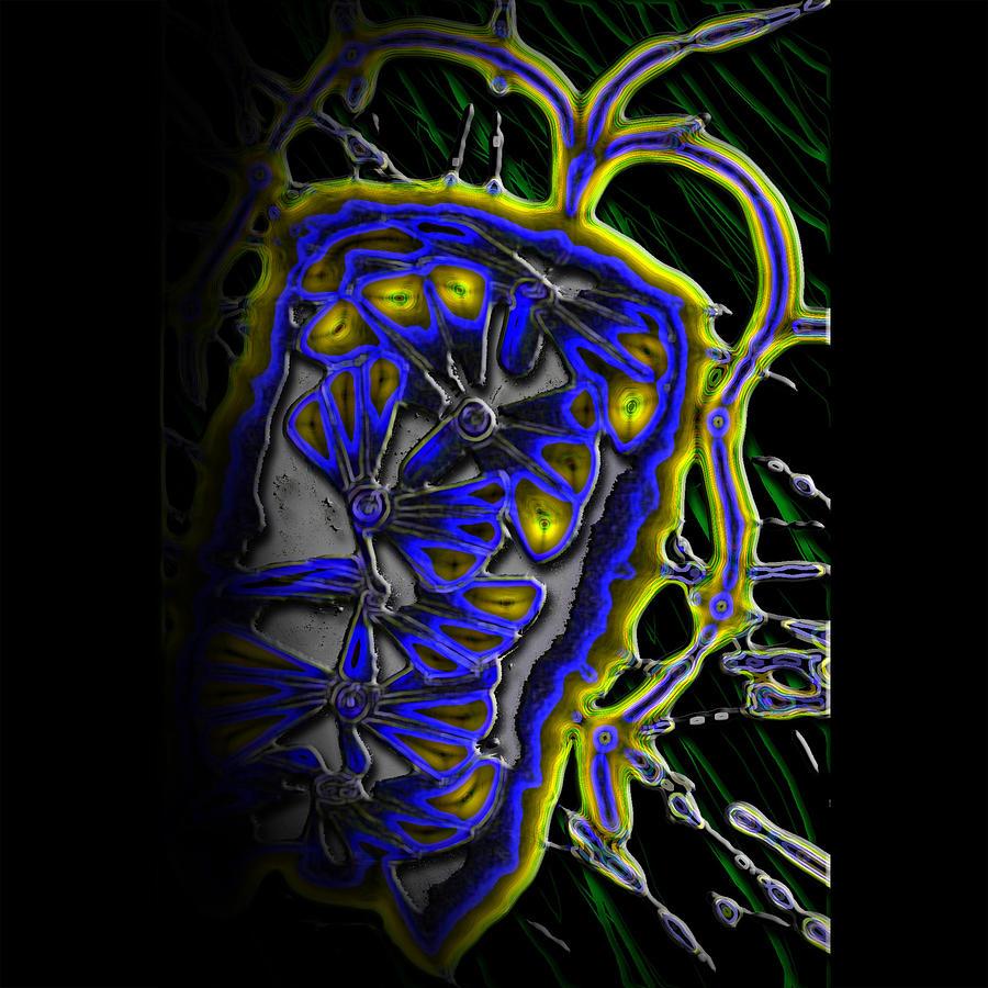 Graphic Design Digital Art - Organic Firecracker by Aaron Kreinbrook