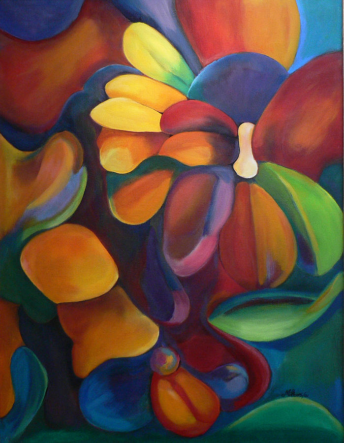 Organic Forms Painting by Martha Flores