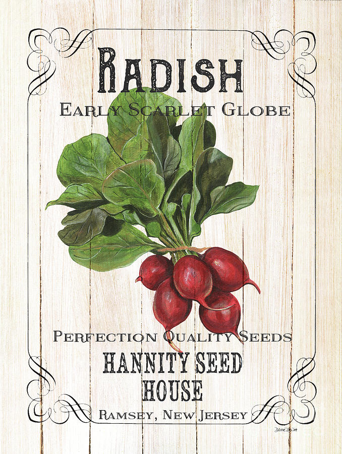 Radishes Painting - Organic Seed Packet 3 by Debbie DeWitt