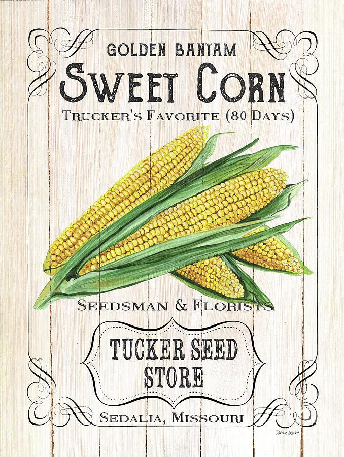 Corn Painting - Organic Seed Packet 4 by Debbie DeWitt