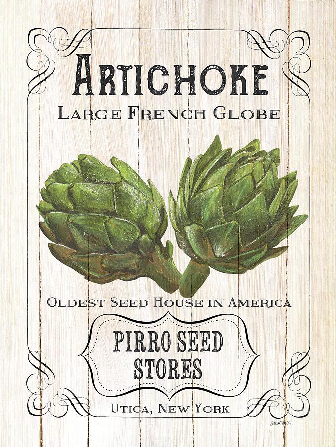 Artichoke Painting - Organic Seed Packets 1 by Debbie DeWitt