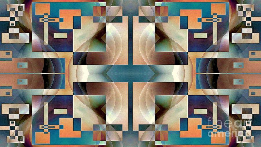 Canvas Prints Digital Art - Organic Symetry by Jack Dillhunt