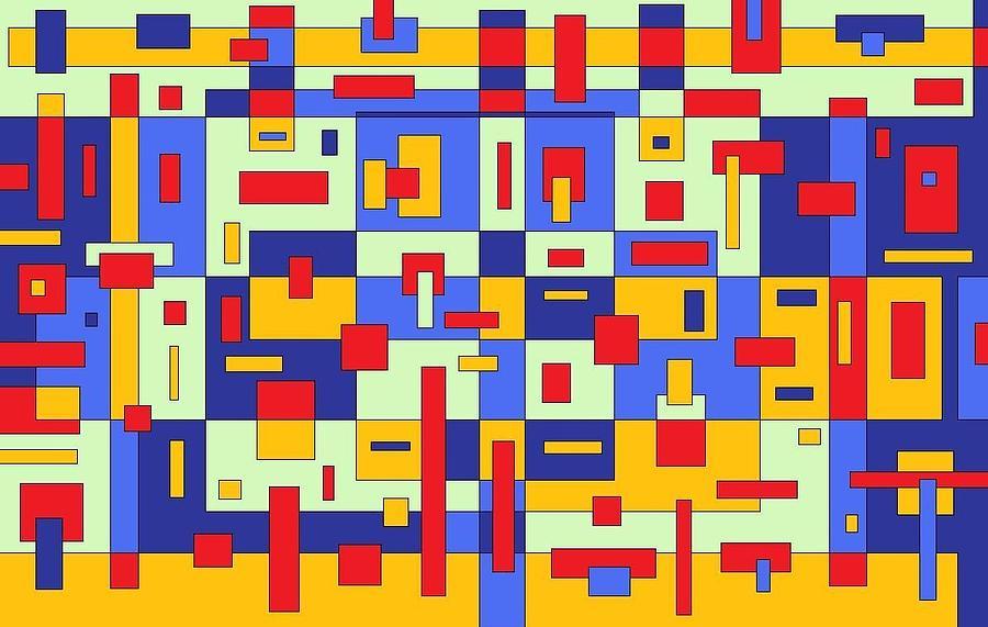 Digital Artwork Painting - Organize by Jordana Sands