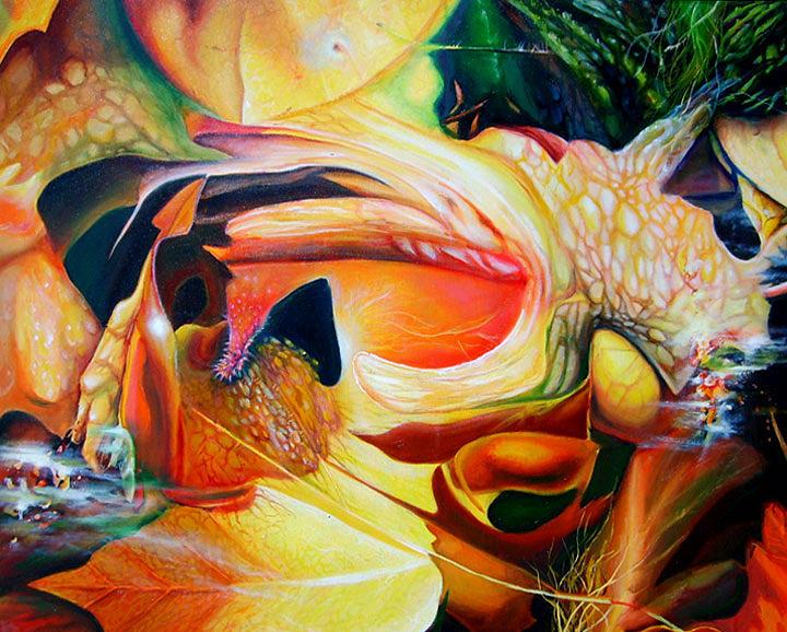 Organic Painting - Organizmo by Leonard Aitken