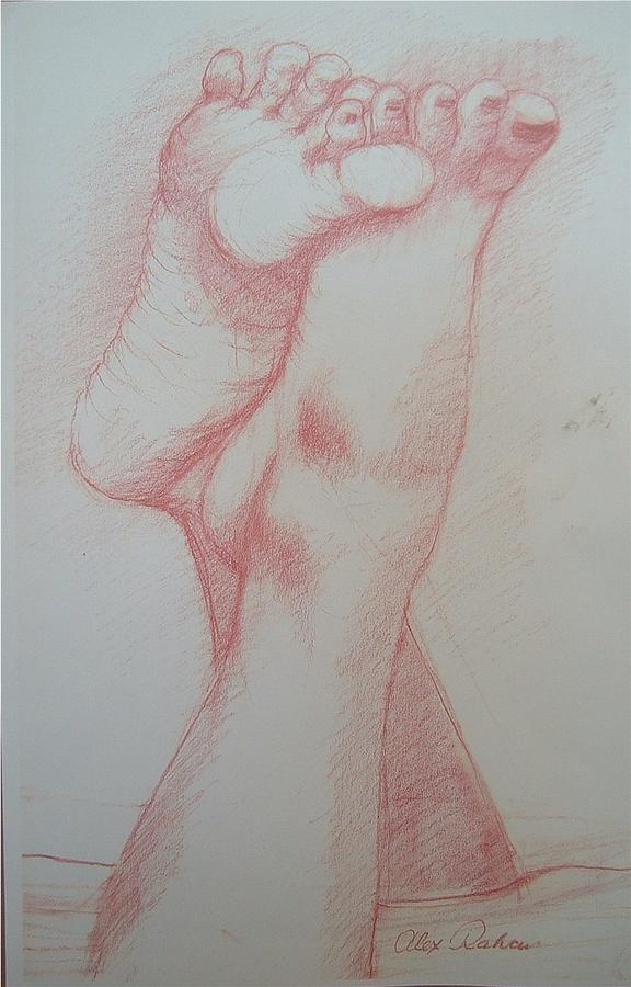 Figure Drawing Drawing - Orgasm by Alex Rahav
