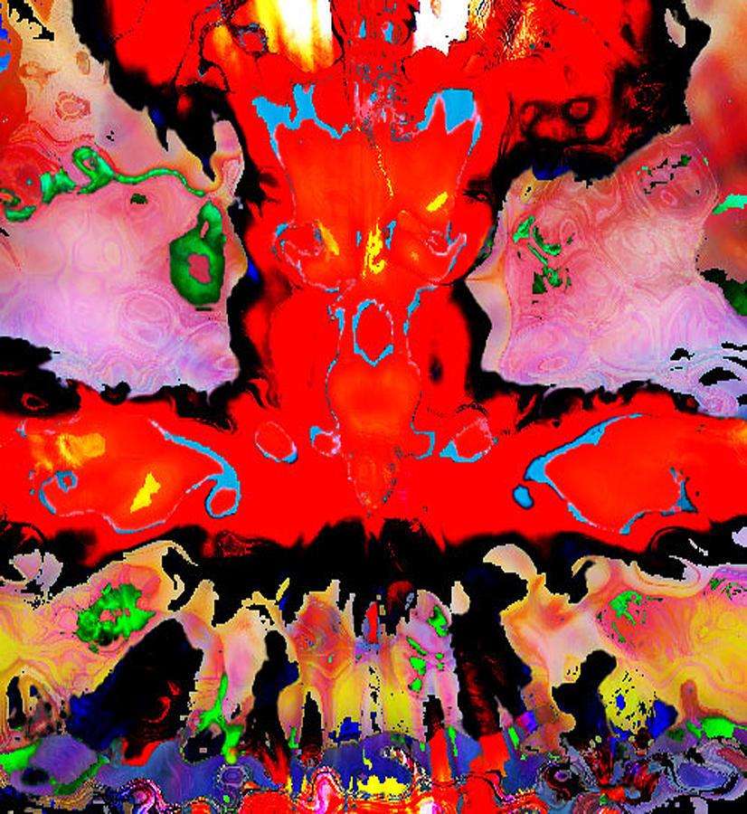 Red Digital Art - Orgasm by Peter Lloyd