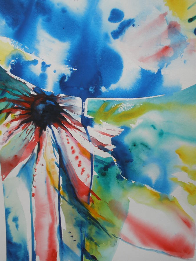 Watercolor Painting - Orgasmic Plumeria by Wendy Wiese