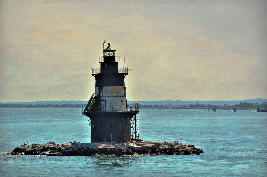 Artistic Photograph - Orient Point Light by Linda C Johnson