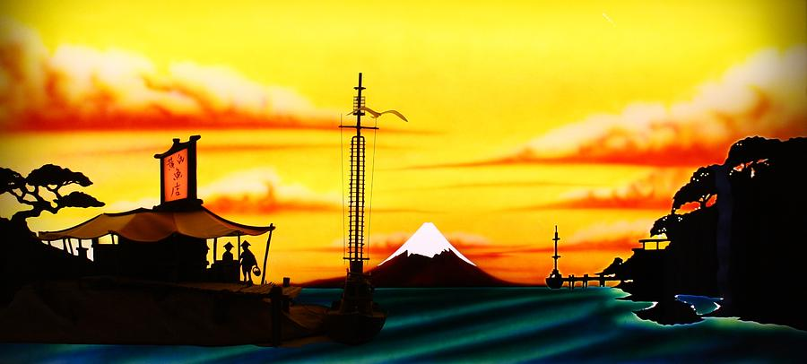 Mount Painting - Oriental Fish Market by Frank Parrish