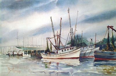 Oriental North Carolina Painting - Oriental Harbor - Brandy  by Bob Pittman