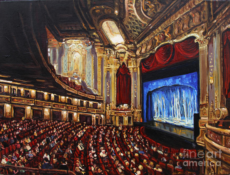 Oriental Theatre Chicago Painting By Christopher Buoscio