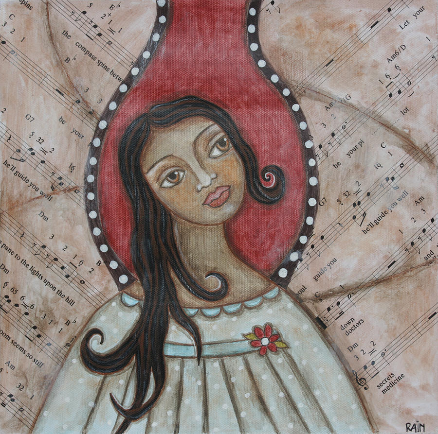 Acrylic Painting - Orifiel by Rain Ririn