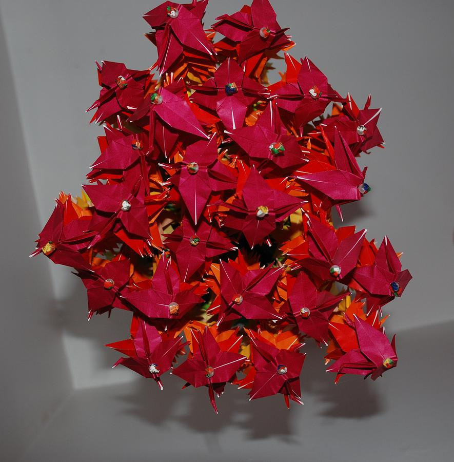 Origami Photograph - Origami Flowers by Rob Hans