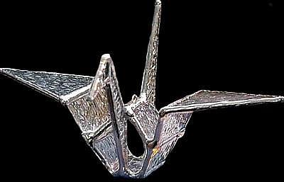 Origami Glass Crane Glass Art by Karen Ichino