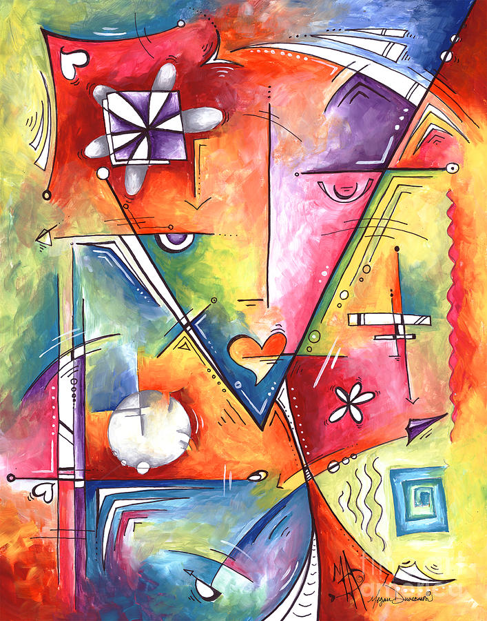 Original Abstract Enlightenment Symbolic Limited Edition Prints Original Painting by Megan Duncanson by Megan Duncanson