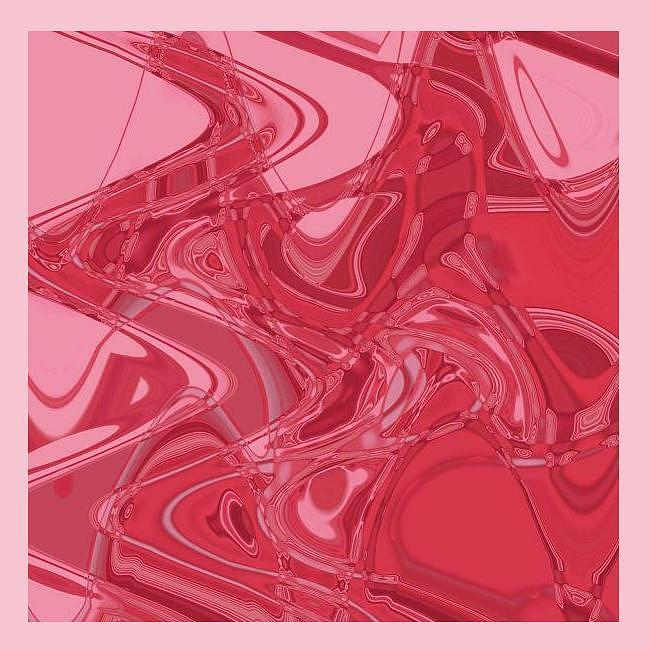 Abstract Pattern Painting - Original Abstract Pink Curve by Mohammad Safavi naini
