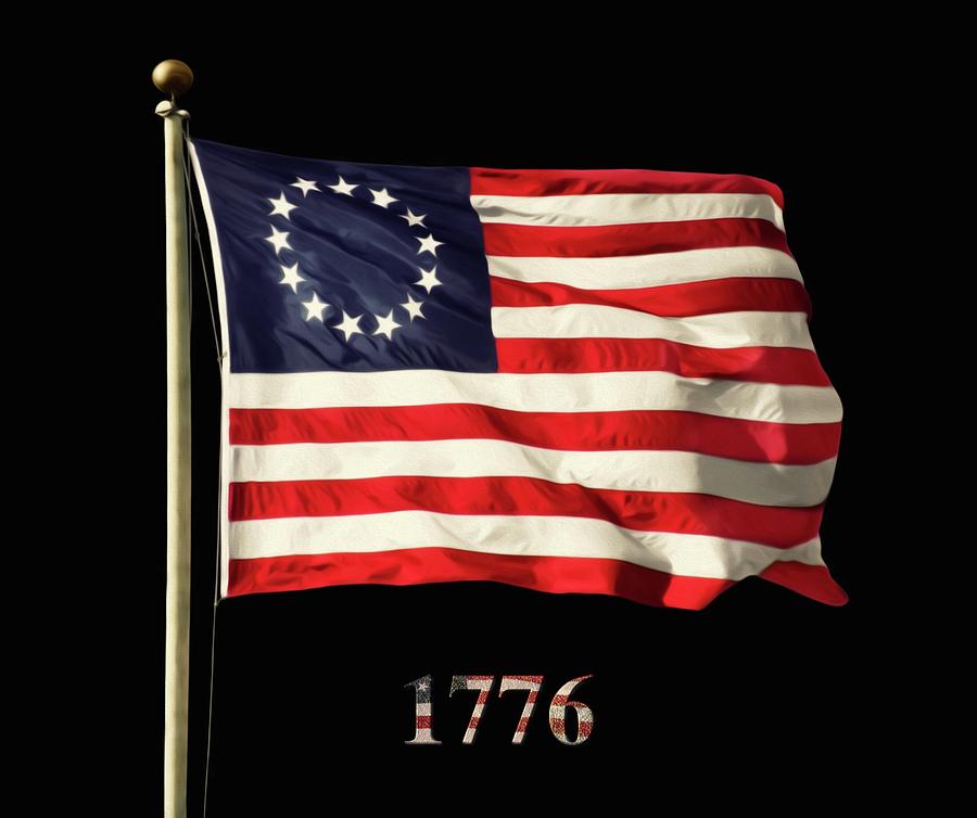 Original American Flag Photograph By Steven Michael