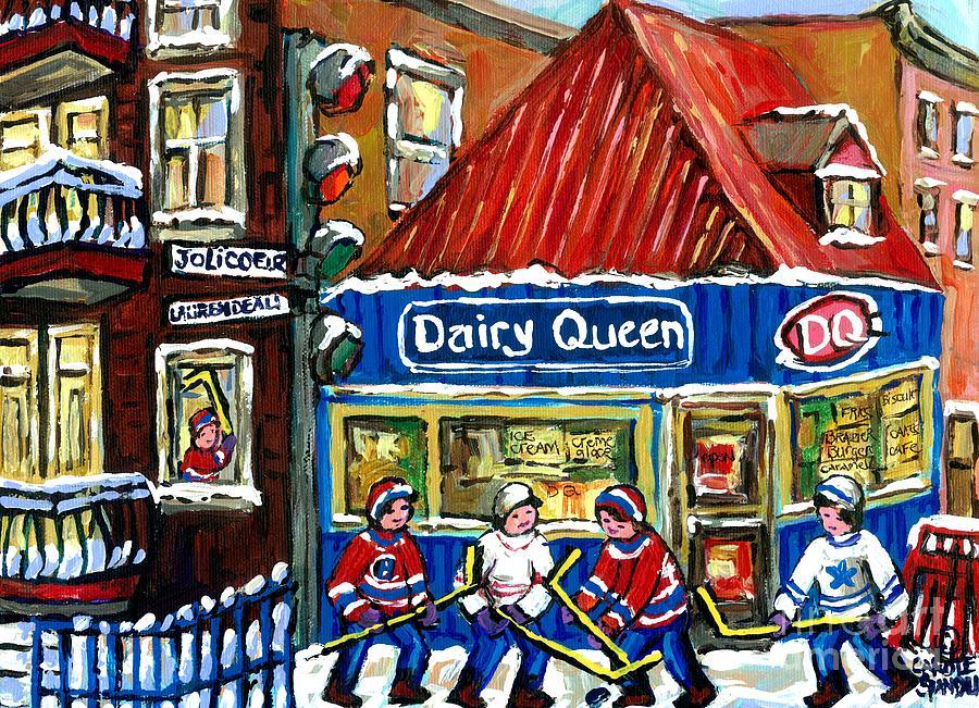 Original canadian hockey art paintings for sale snowfall for Original artwork for sale online