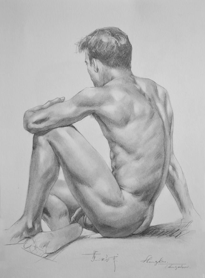 Extremely hand drawing of naked man boobs gallery naked