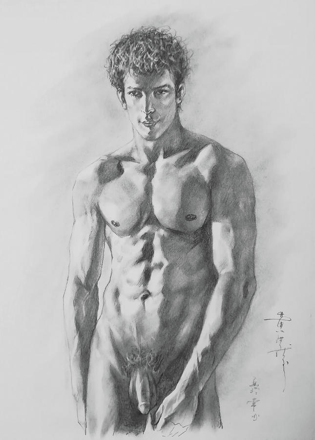 drawing of a guy nud
